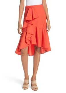 Joie Chesmu Ruffled Cotton Skirt