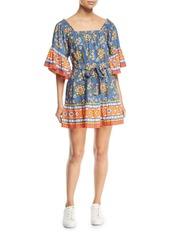 Joie Chloris Floral Self-Tie Mini Dress