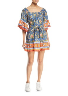 Joie Chloris Floral Self-Tie Mini Dress