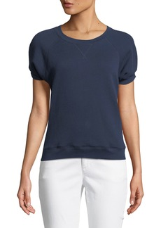 French Terry Half-Sleeves Cotton Top