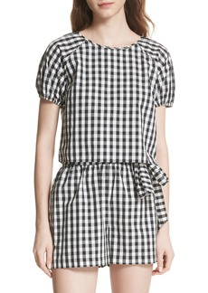 Joie Cirila Gingham Cotton Top