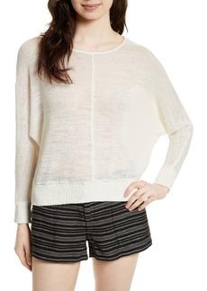 Joie Clady Linen Open Knit Pullover
