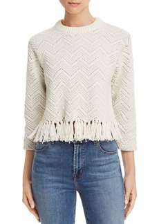 Joie Claudelle Tasseled Chevron Stitch Sweater