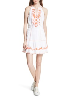 Joie Clemency Embroidered Cotton Gauze Dress