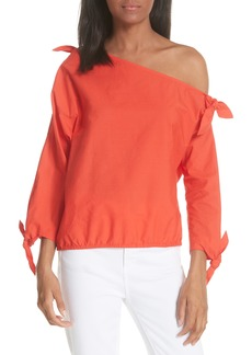 Joie Colissa One-Shoulder Cotton Blouse