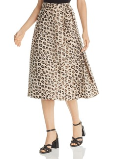 Joie Collen Leopard-Printed Wrap Skirt
