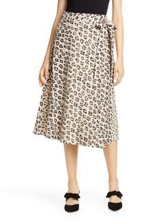 Joie Collen Linen A-Line Skirt