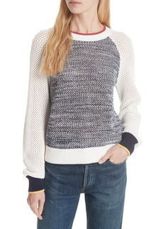 Joie Colorblock Cotton Sweater