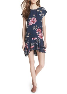 Joie Coreen Drop Waist Floral Silk Dress