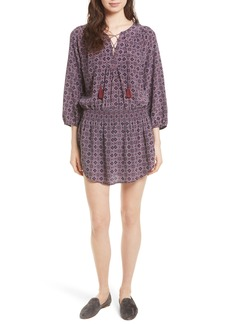 Joie Corra B Print Silk Blouson Dress