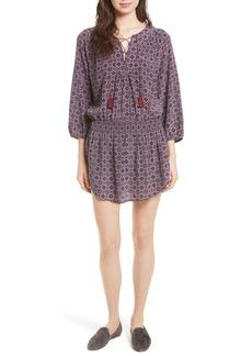 Joie Corra B Print Silk Blouson Dress