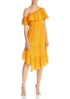 Joie Corynn One-Shoulder Lace Dress