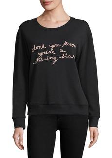 Joie Cotton Embroidered Sweatshirt