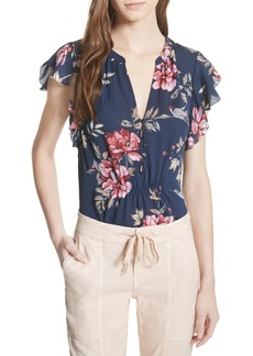Joie Crisbell Floral Silk Blouse