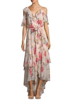 Joie Cristeta Silk Floral Maxi Dress