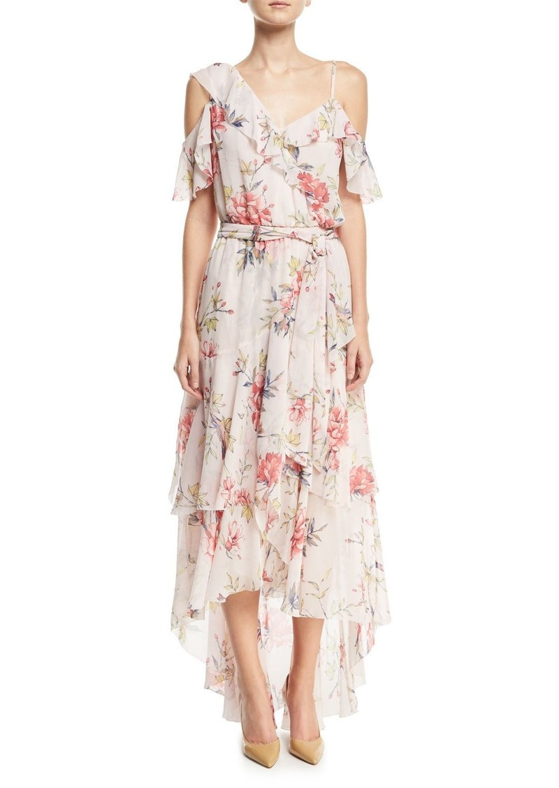 Joie Cristeta Floral-Print Sleeveless Silk Chiffon Dress