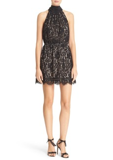 Joie Cyndi Sleeveless Lace Blouson Dress