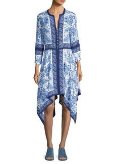 Cyntia Scarf Printed Silk Handkerchief Dress