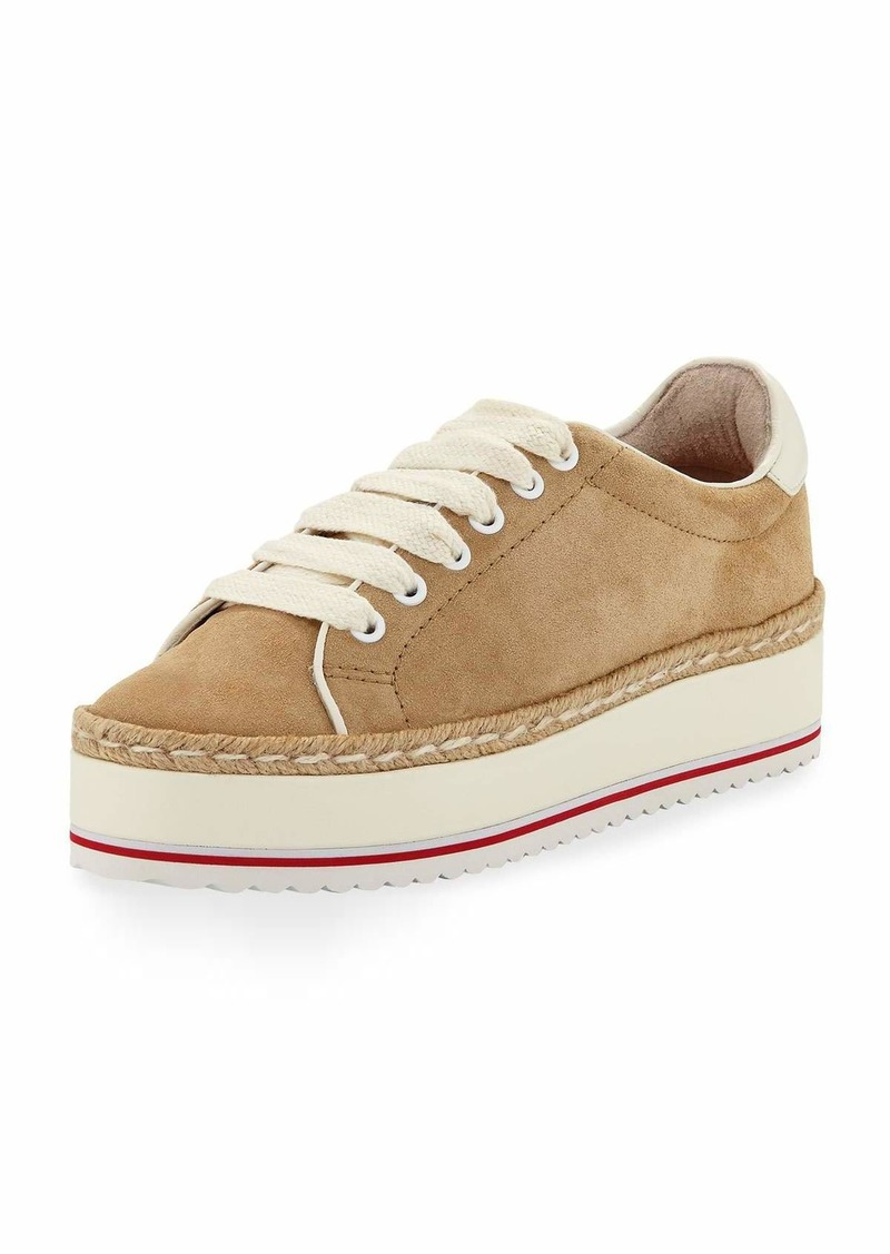 77a52c23a4ab Joie Dabnis Suede Platform Low-Top Sneakers