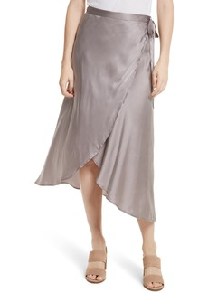 Joie Dahoma Silk Wrap Midi Skirt