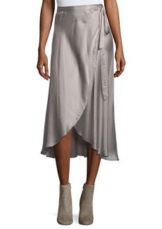 Joie Dahoma Silk Wrap Skirt