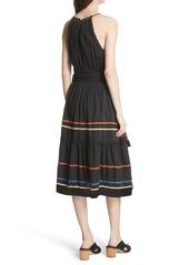 605a9f32ec Joie Joie Danit Embroidered Stripe Cotton   Silk Dress