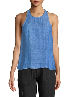 Joie Dany Sleeveless Button-Back Linen Top