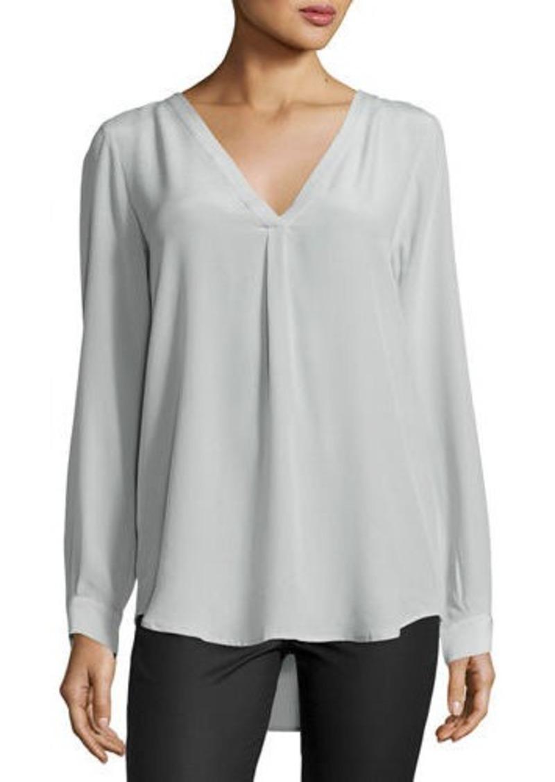 Joie Daryn Long-Sleeve Silk Blouse