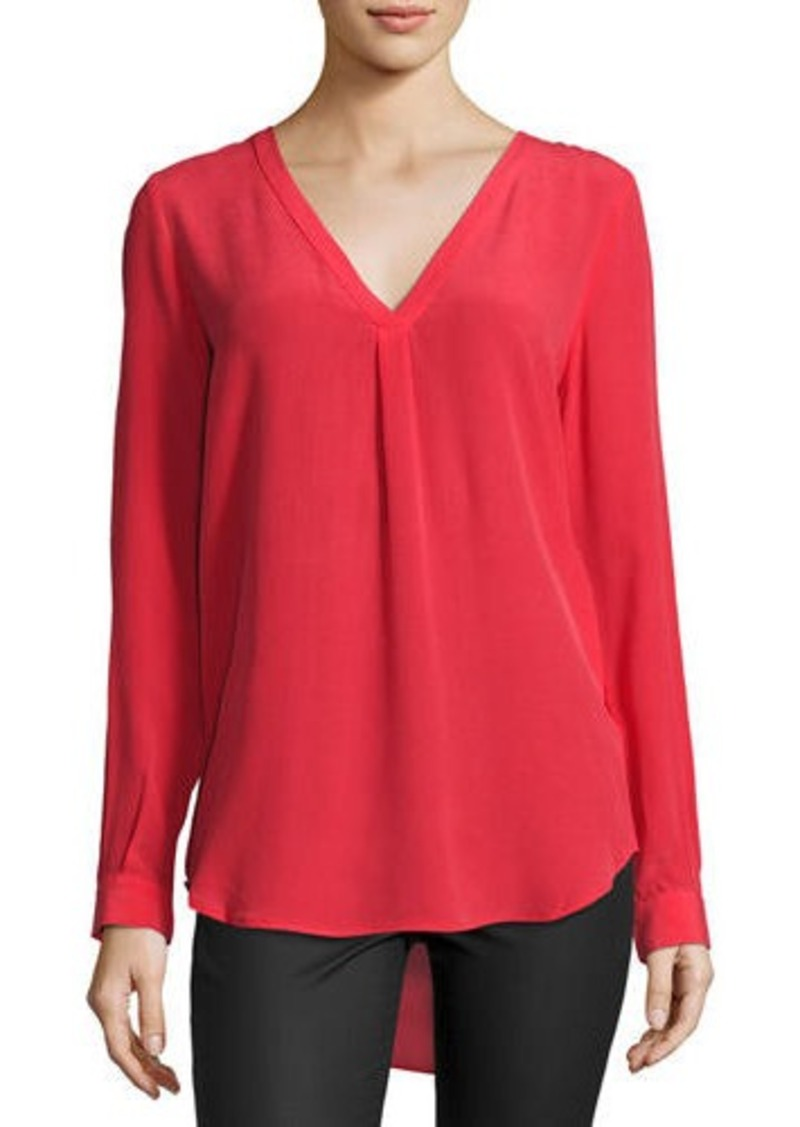 Joie Daryn Long-Sleeve Silk Blouse