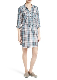 Joie Dashalynn Plaid Tie Waist Shirtdress