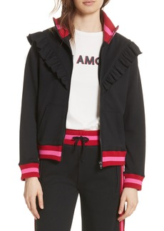 Joie Deetra Rib Knit Trim Jacket
