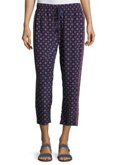 Joie Deidre Printed Drawstring Silk Pants