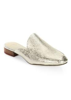 Joie Delaney Crackle Metallic Loafer Slides