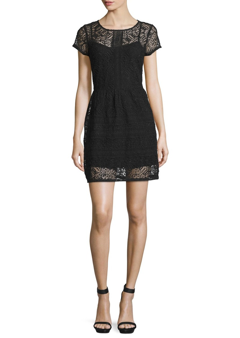Joie Delarosa Embroidered Lace Dress