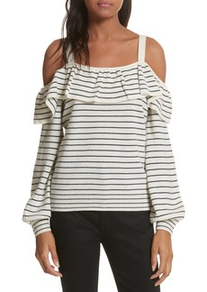Joie Delbin B Stripe Cold Shoulder Sweater