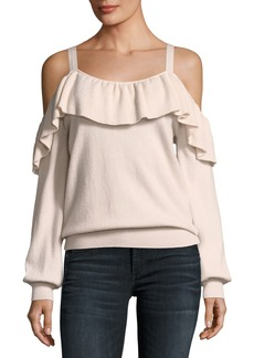Joie Delbin Cold-Shoulder Cashmere Sweater