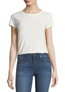 Joie Delzia Crewneck Short-Sleeve Pima Cotton Tee