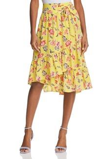 Joie Denisha Floral Silk Skirt