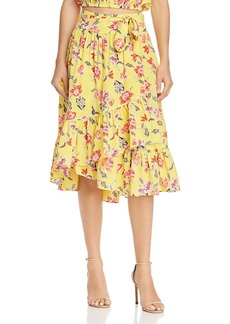 Joie Denisha Floral Silk Skirt
