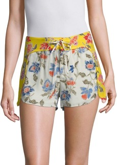 Joie Deodata Floral Silk Shorts