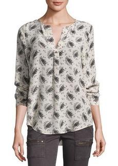 Joie Deon Printed Silk Top