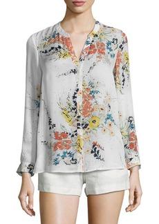 Joie Devitri Floral-Printed Silk Blouse
