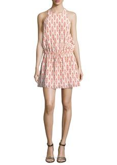 Joie Diega Silk Self-Tie Mini Dress