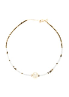 Joie DiGiovanni - Women's 14K Gold; Aquamarine; Pyrite and Pearl Necklace - Multi - Moda Operandi