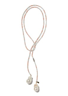 Joie DiGiovanni Aquamarine, Opal And Pearl Lariat Necklace