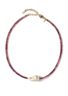Joie DiGiovanni Tourmaline And Pearl Necklace