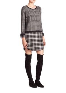 Joie Dinay Plaid Layered Sweater Dress