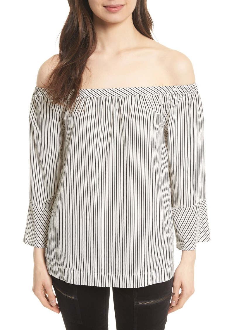 f80ce2579d3695 On Sale today! Joie Joie Dinora Off the Shoulder Stripe Silk Top