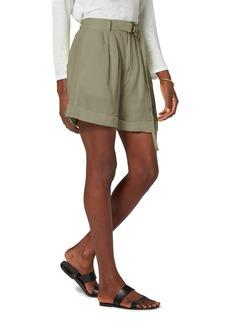 Joie Dixon Belted Linen Shorts