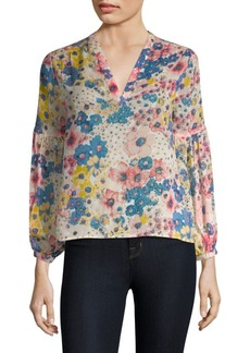 Joie Dolce Vita Floral Silk Blouse